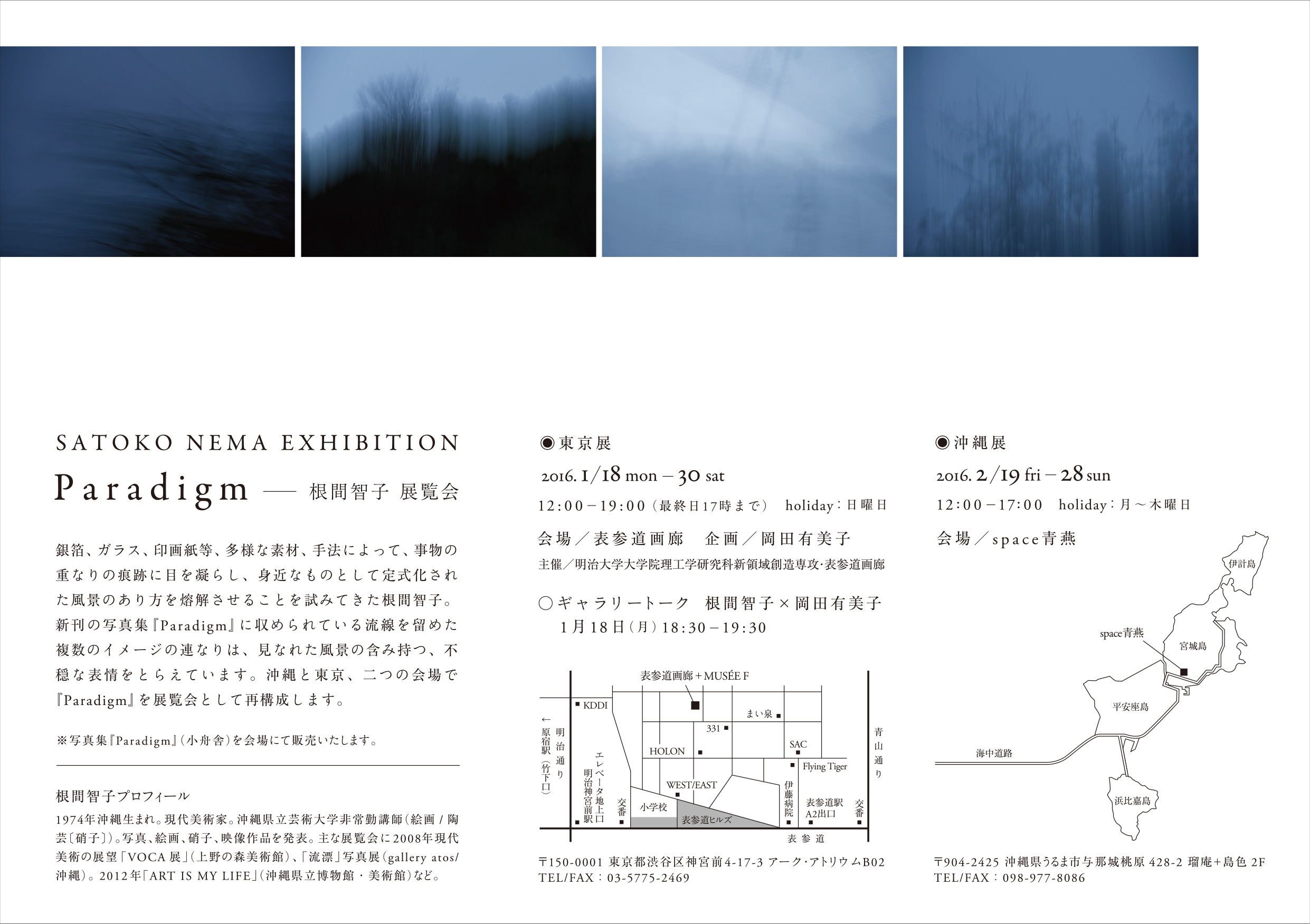 根間智子写真展『Paradigm』詳細情報